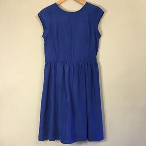Mossimo Blue Dress with Back Zipper Detail in S